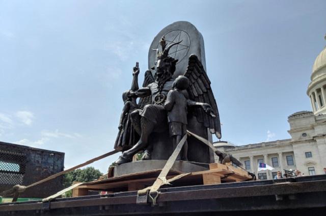 Baphomet statue smashed in Arkansas