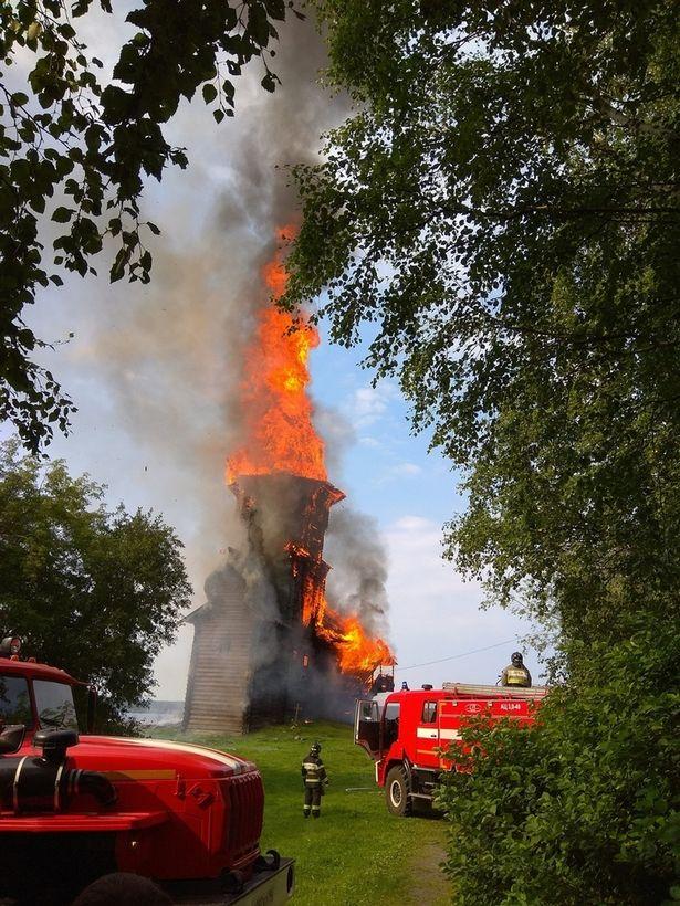 Church In Kondopoga Burned Down By Satanist