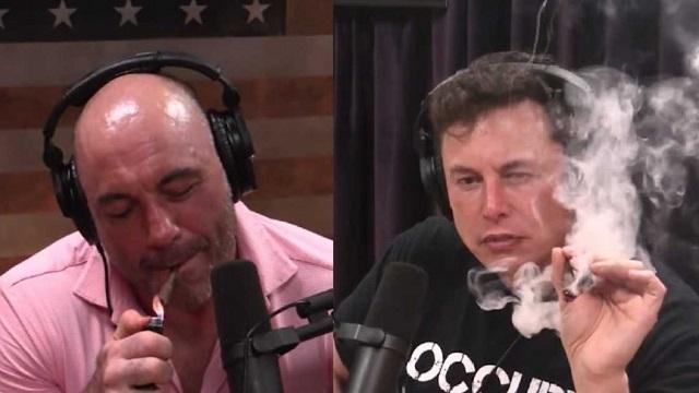 Rogan and Musk smoking weed