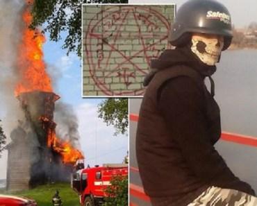Satanist Teen Burns Church In Russia