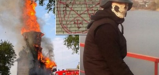 Satanic Russian Teenager, Burns Down Church Built By Catherine The Great