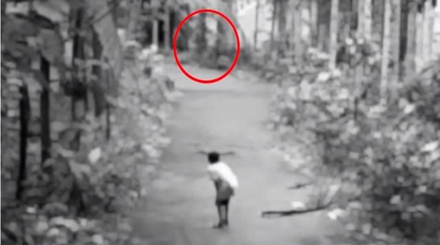 Little Boy Scared By Shadow Fiend