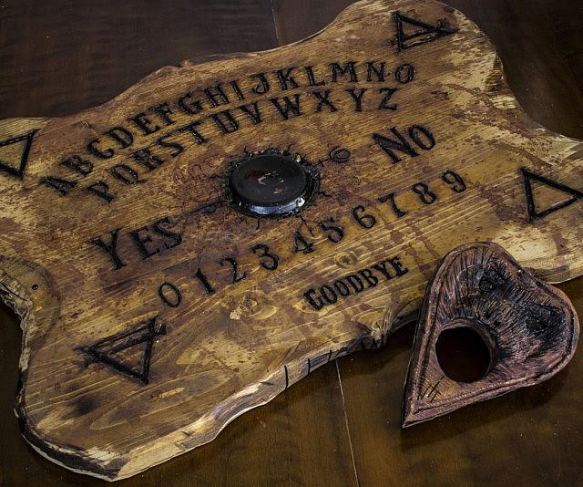 Wooden Ouija board