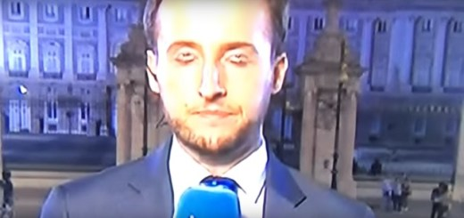 News Reporter Displays Double Eyes During Broadcast