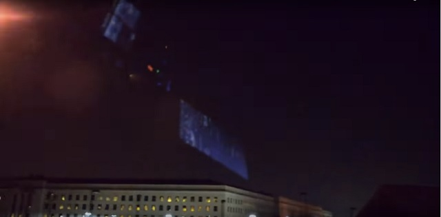Pyramid UFO over Pentagon 2018