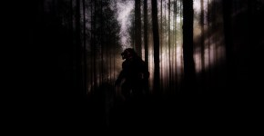 Dogman shapeshifter in forest