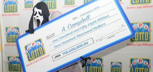 Lottery Winner Wears Scream Mask To Collect Prize