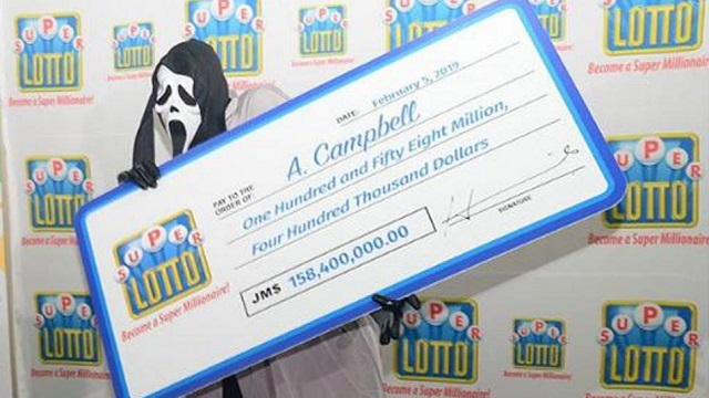 Scream Mask Lottery Winner 158 million