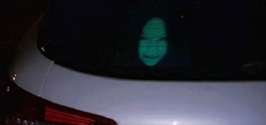 Chinese Drivers Use Ghoulish Decals, To Ward Away Tailgating And High Beam Blindness