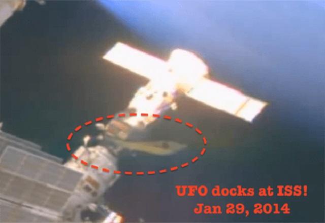 UFO docks at International Space Station 2014