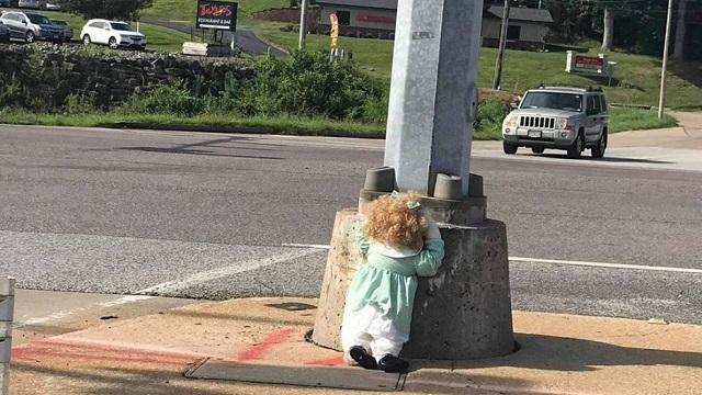 Festus Creepy Doll On Street Missouri