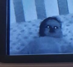 Possessed baby at night