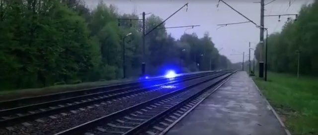 Weird Blue Orb Hovers Over Railroad Track Before Exploding