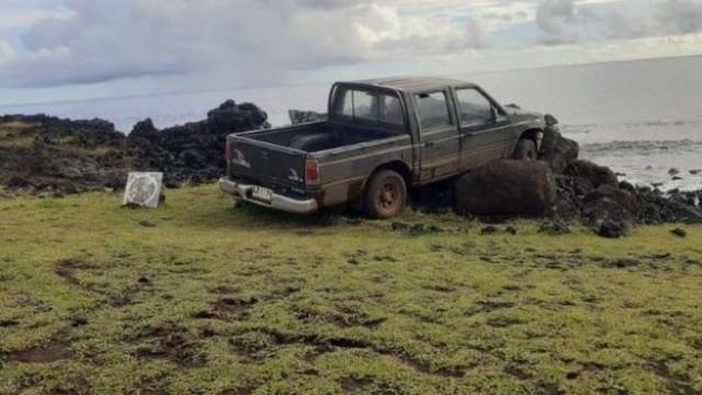 Easter Island Statue crash