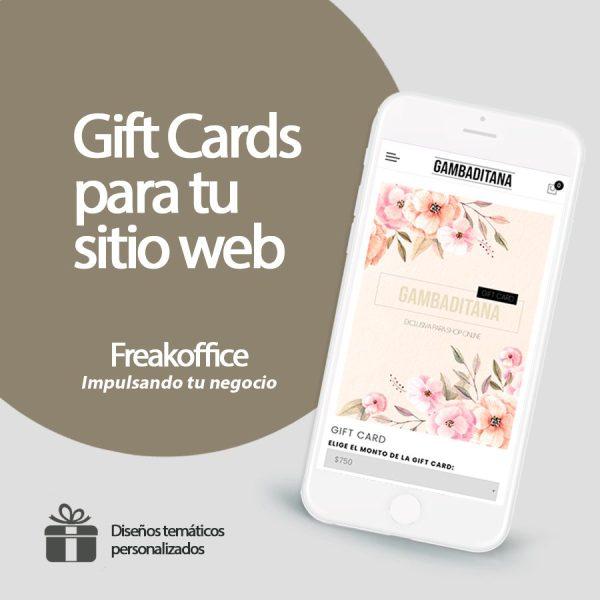 Gift Card para tu sitio web