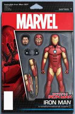 INVINCIBLE IRON MAN #1 action figure variant cover