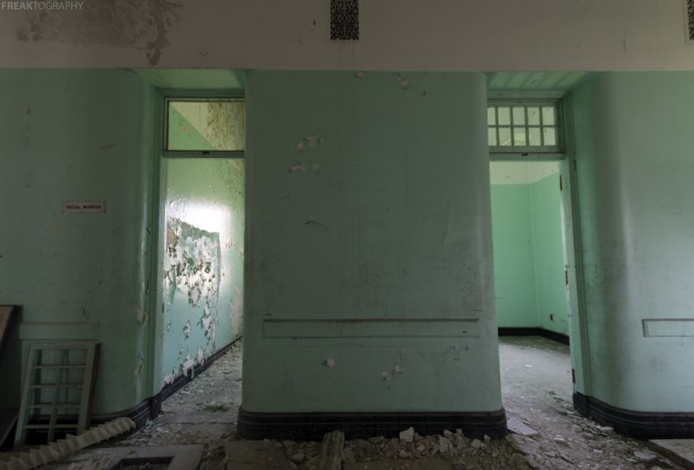 Abandoned insane asylum photography