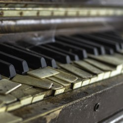 Piano in abandoned ontario church
