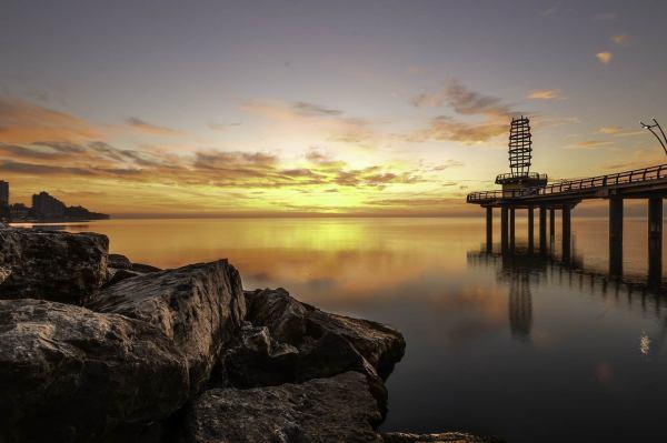 Burlington Ontario Pier Sunrise Print