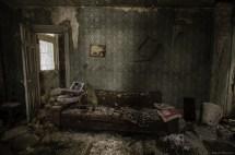 Inside Abandoned House Living Room
