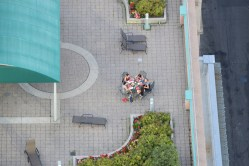 rooftopping people dinner