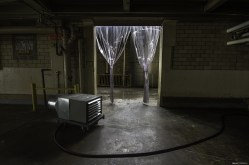 Inside a vacant industrial food production plant