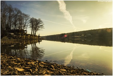 A calm morning on Rushford Lake