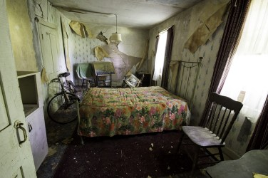 Abandoned Ontario House Bedroom