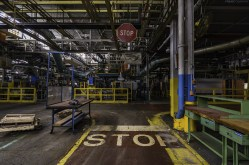 An enormous automotive factory that has been closed and awaiting it's fate.
