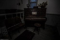 Piano in a Dark Abandoned Church