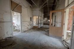 Abandoned Detroit Highschool Hallway
