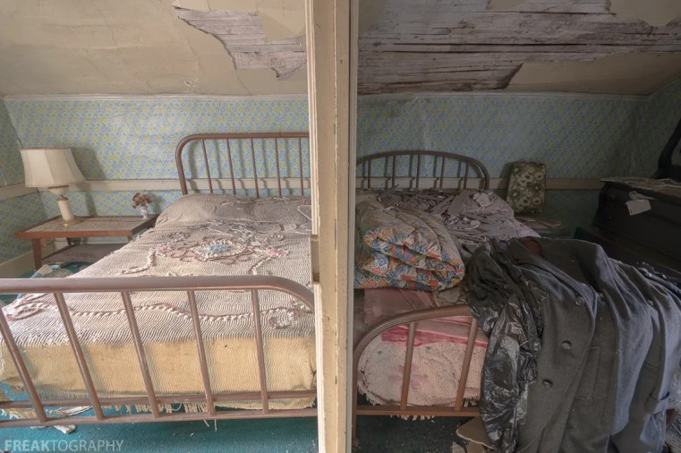 Freaktography, abandoned, abandoned bedroom, abandoned house bedroom, abandoned photography, abandoned places, bedroom, creepy, decay, derelict, haunted, haunted places, photography, urban exploration, urban exploration photography, urban explorer, urban exploring
