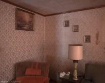 70's decor, Freaktography, abandoned, abandoned photography, abandoned places, creepy, decay, derelict, framed photos, haunted, haunted places, lamp, photography, retro decor, urban exploration, urban exploration photography, urban explorer, urban exploring, wallpaper, wood trim