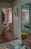 Abanoned And Crumbling House Door Frames