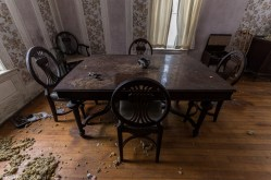 Freaktography, abandoned, abandoned photography, abandoned places, antique furniture, antique table, creepy, decay, derelict, dining room table, furnitue, haunted, haunted places, photography, table, urban exploration, urban exploration photography, urban explorer, urban exploring