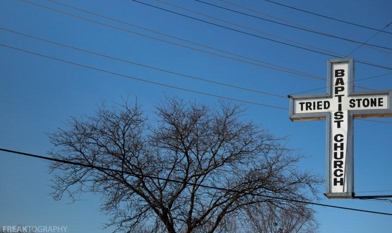 Freaktography, abandoned, abandoned photography, abandoned places, blue sky, creepy, cross, decay, derelict, detroit, detroit abandoned, haunted, haunted places, photography, sky, tree, tried stone baptist church, urban exploration, urban exploration photography, urban explorer, urban exploring
