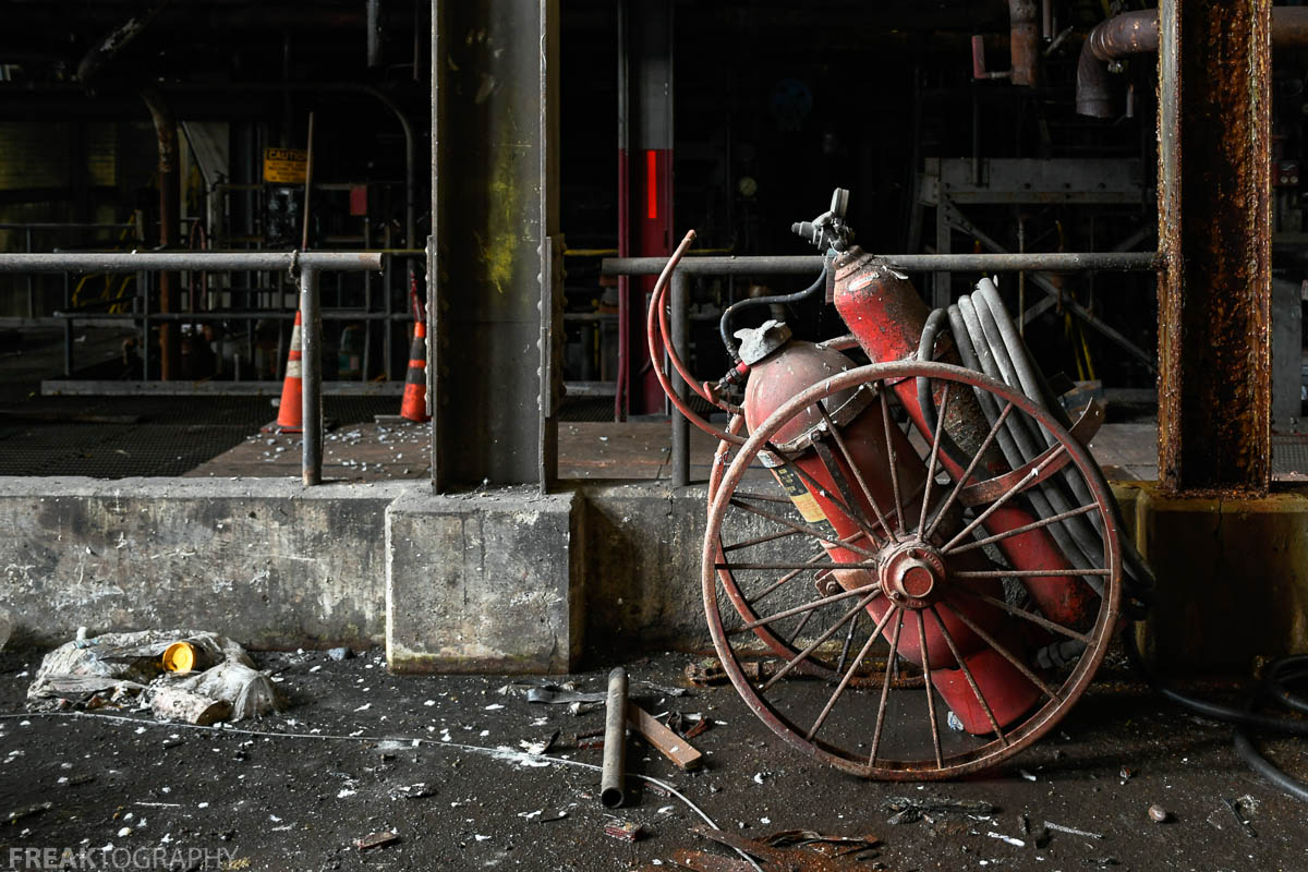 Abandoned Power Plant Fire Extinguisher