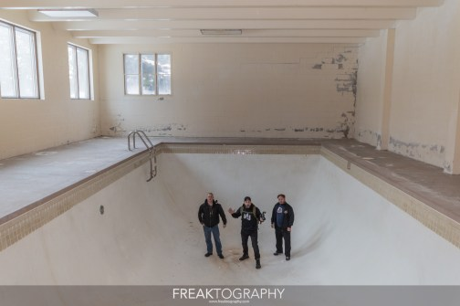 Exploring an abandoned mansion with indoor pool