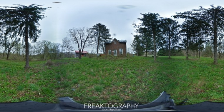 360 Degree Photography of an Abandoned House interior