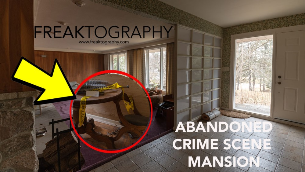 Exploring the Abandoned Murder Crime Scene House