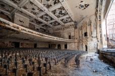 abandoned detroit cooley high school auditorium left