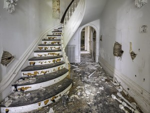 Abandoned 1900s Mansion Staircase 8x10 Print