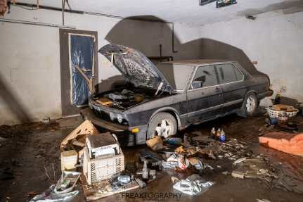 Abandoned House with Abandoned Luxury BMW