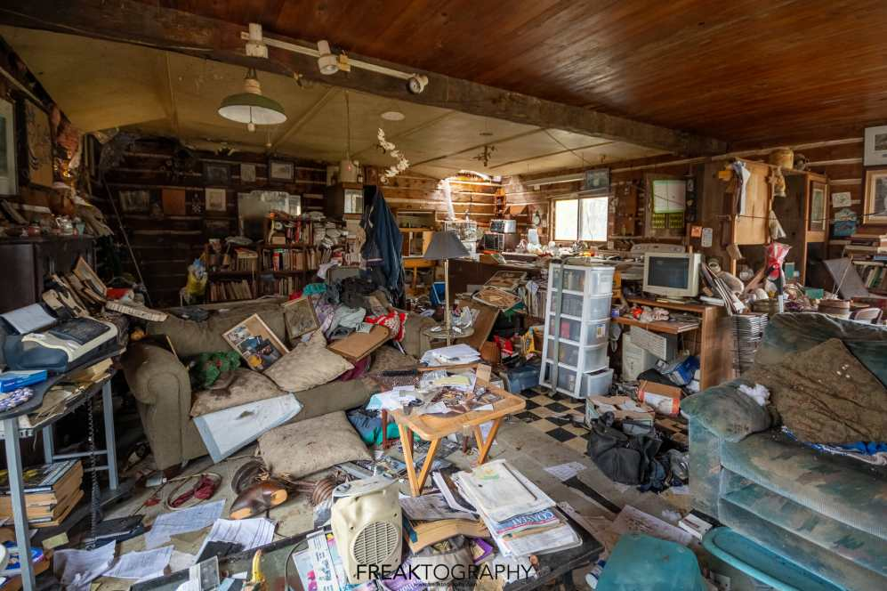 abandoned time capsule cabin