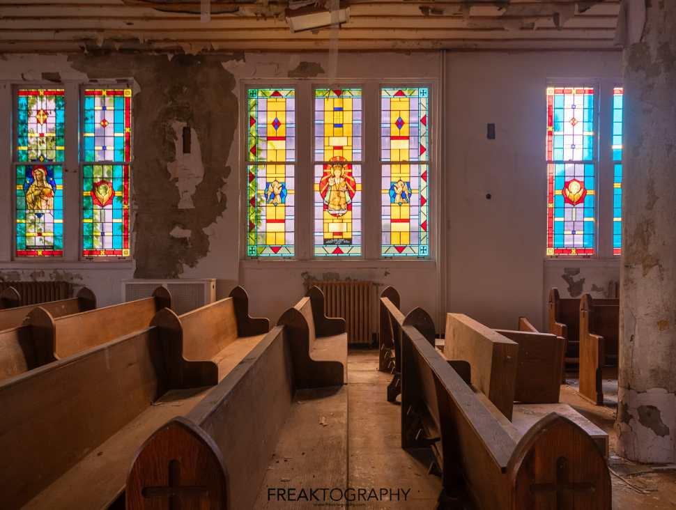 Stained Glass Abandoned Church Buffalo New York