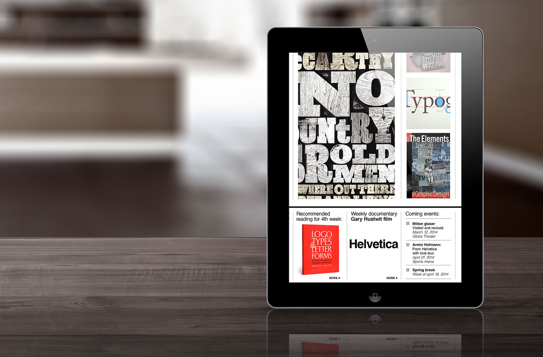 City Type website in iPad
