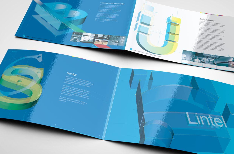 LINTEL corporate brochure spreads