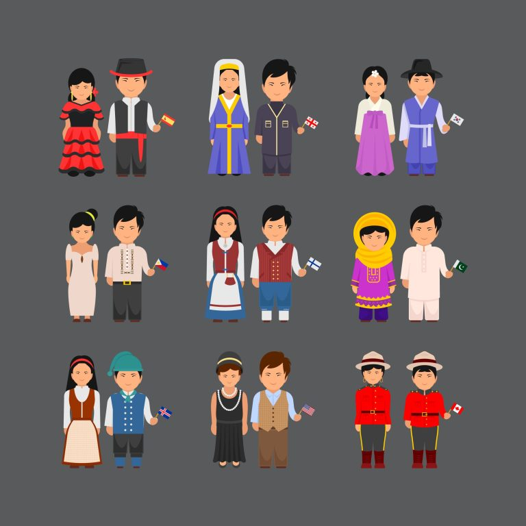 National Costumes Free Vector Art