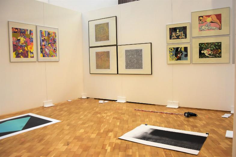 Kabinett auf der 19. Grafik-Triennale Frechen