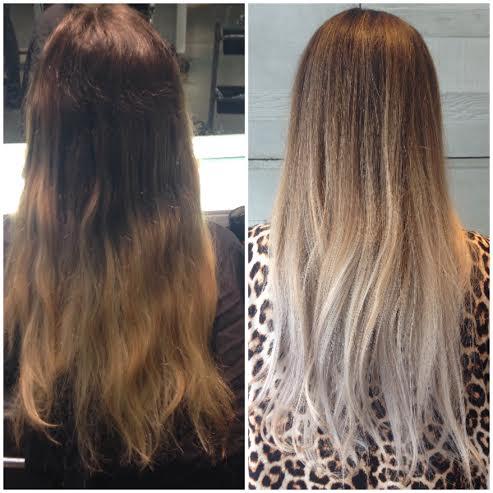 Going Blonde- Olaplex, dark to light hair in one stage, ashy blonde hair